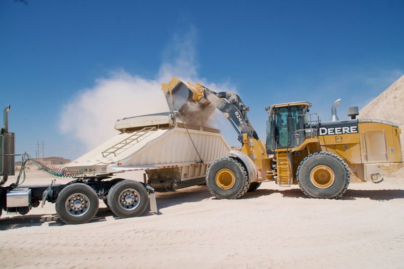 Caliche being loaded
