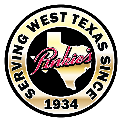 Pinkie's Serving West Texas Since 1934 Badge logo design