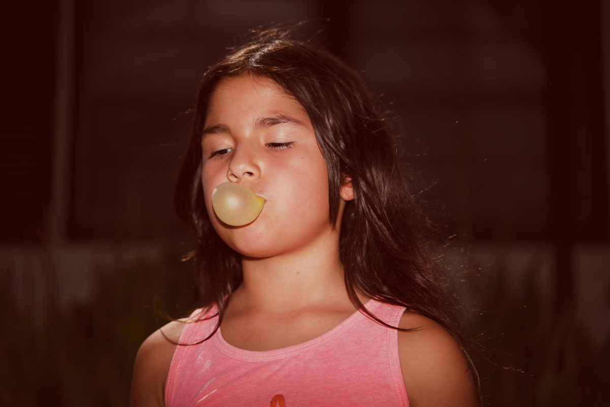 Bubble gum portrait
